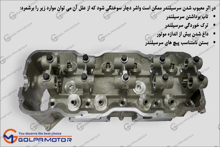 Image result for آشنایی با سر سیلندر و عیوب آن